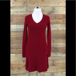 Athlete Women's Wool Blend Red Flare Dress XS